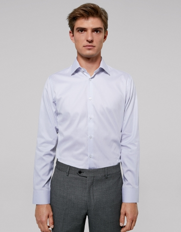 White fake plain dress shirt