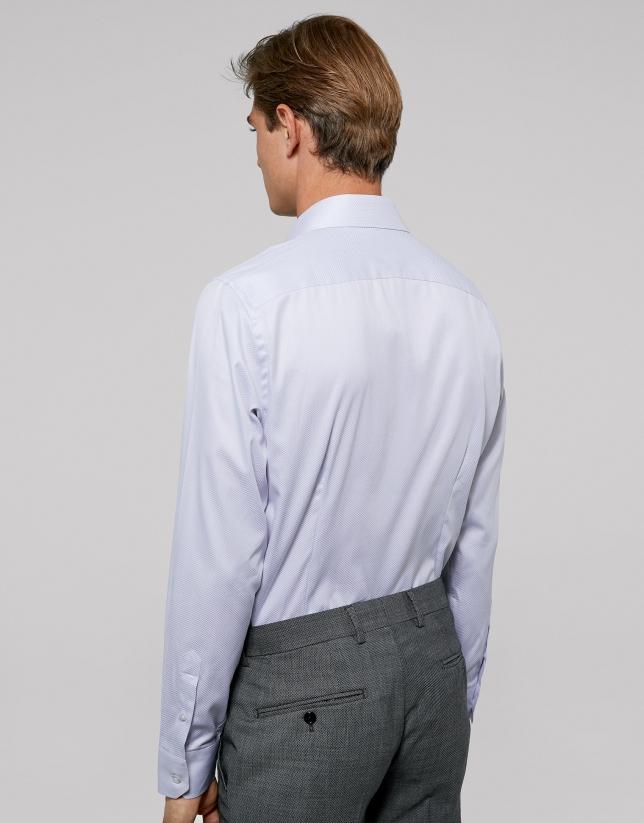 White fake plain dress shirt
