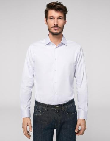 Chemise de costume faux uni gris clair
