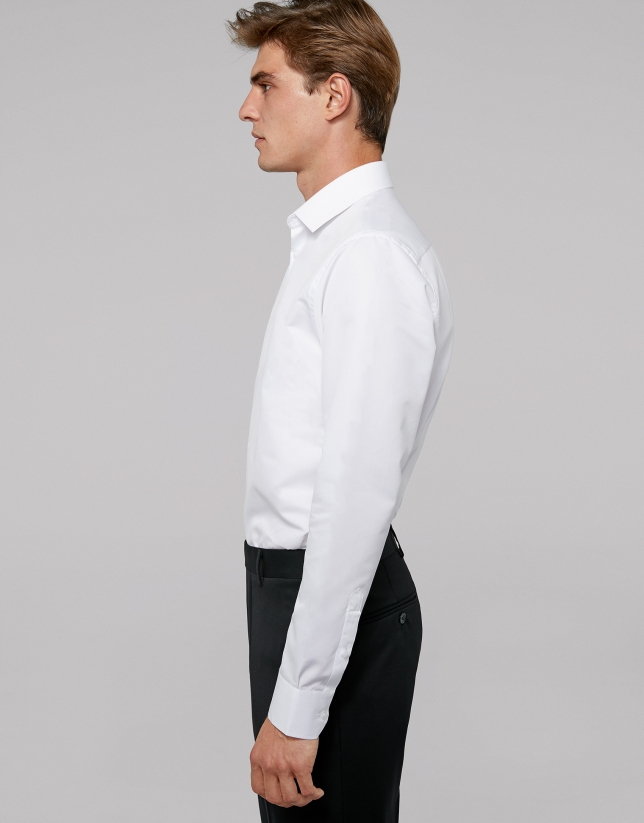 White easy care regular shirt