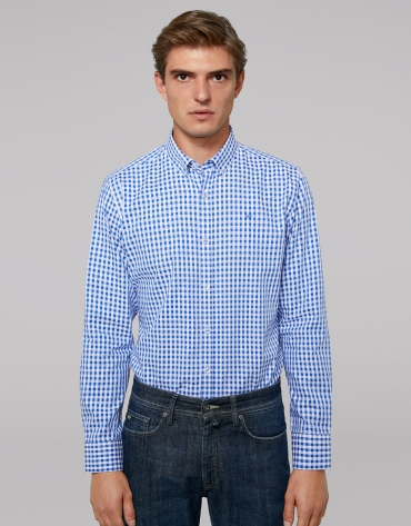 Blue Vichy checked sport shirt