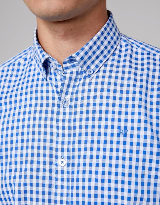 Camisa sport cuadros vichy azules