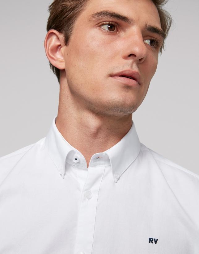 White Oxford cotton sport shirt