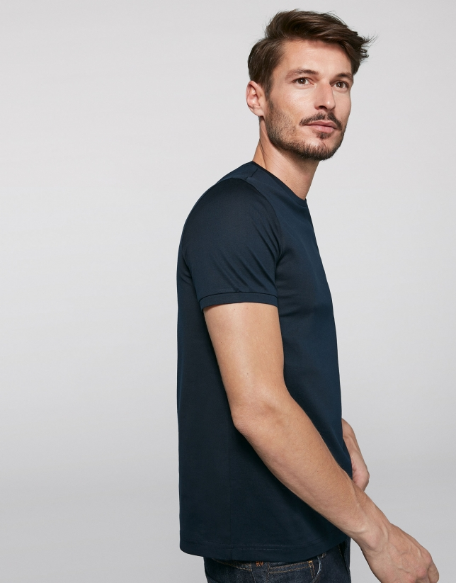 Navy blue, short sleeve t-shirt