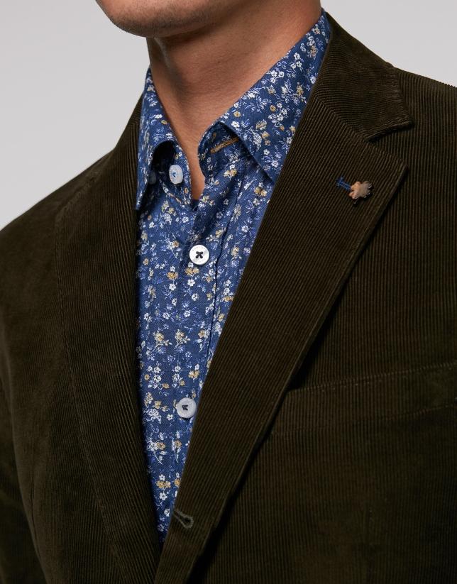 Khaki corduroy sport jacket