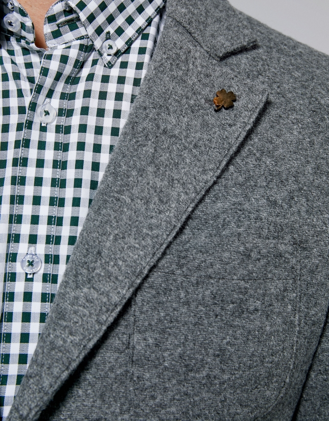 Gray melange wool sport jacket