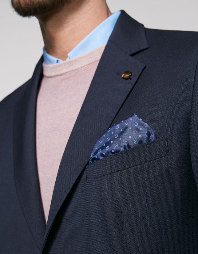 Veste bleu marine à poche plaquée