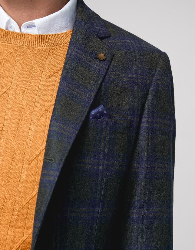 Khaki checked sport jacket