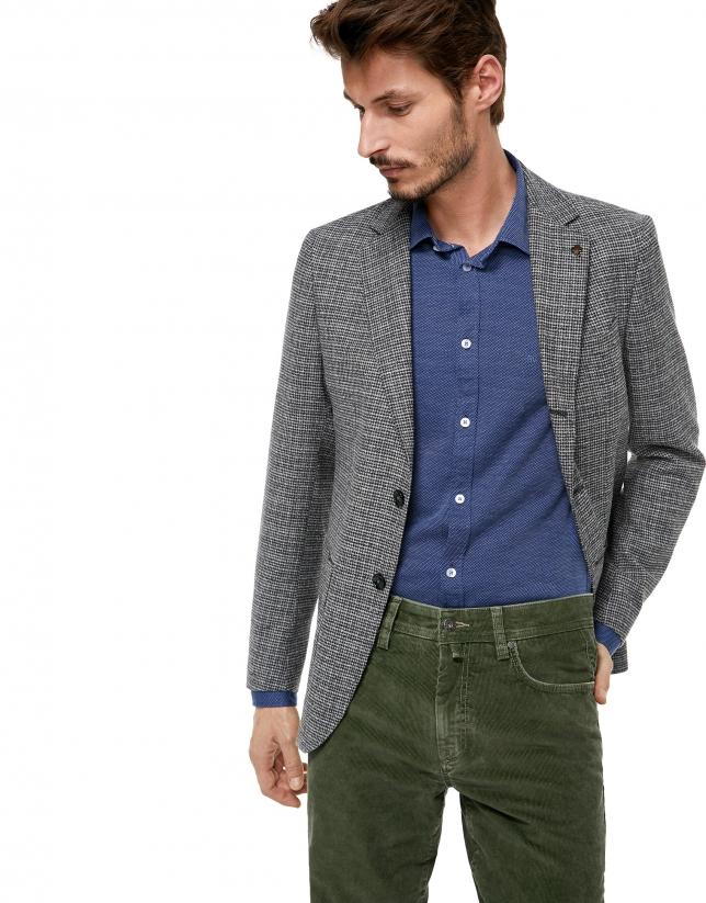 Veste grise à poche plaquée
