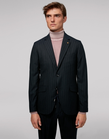 Blue pinstripe sport jacket
