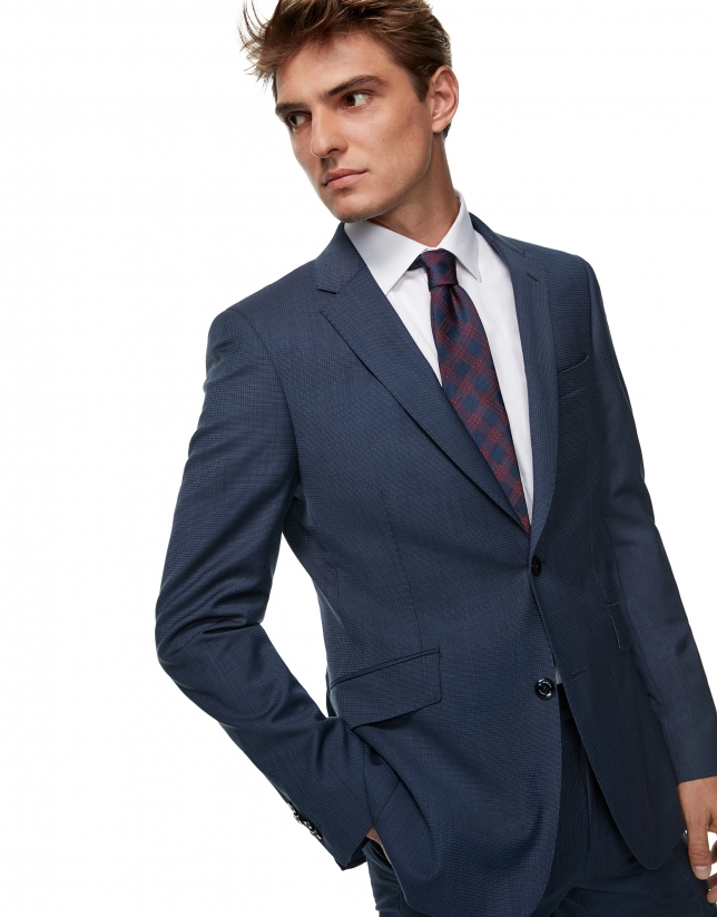 Blue regular half canvas suit