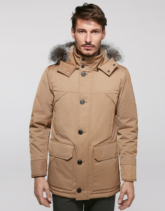 Long hazel parka