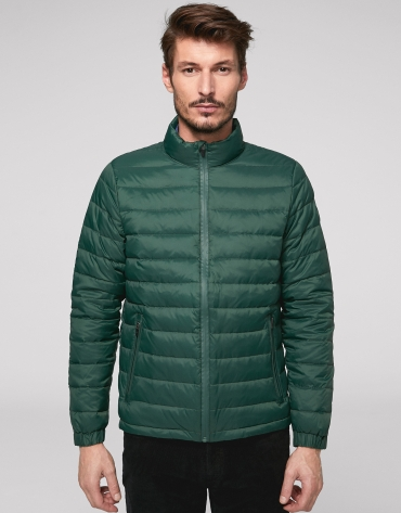 Short dark green anorak