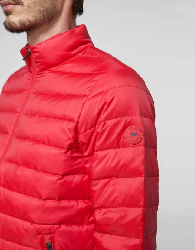 Short red anorak