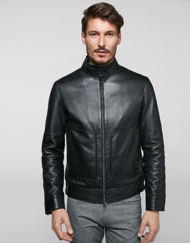 en venta comprar genuino moda más deseable Cazadora piel negra