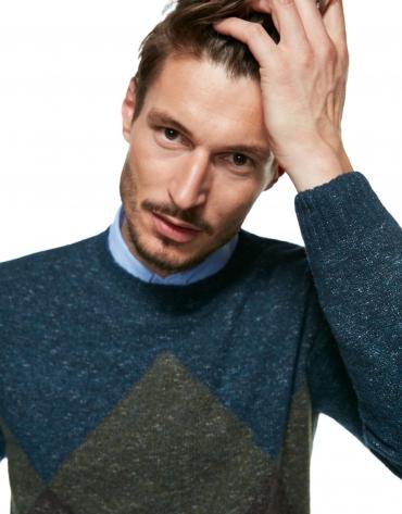 Diamond color-block sweater