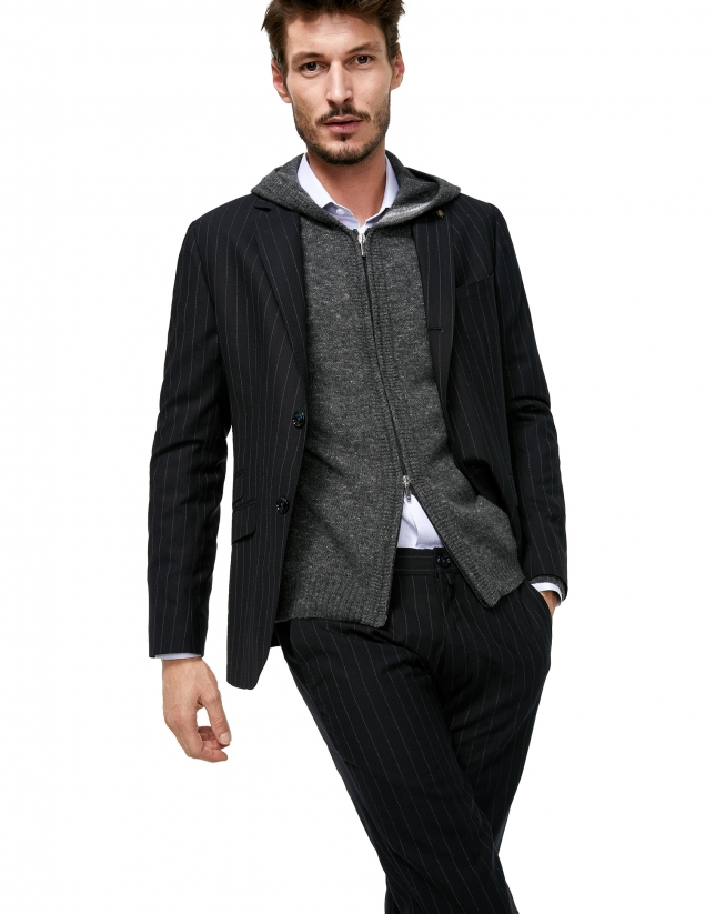 Gray melange wool jacket
