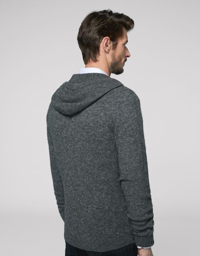 Gray melange wool jacket