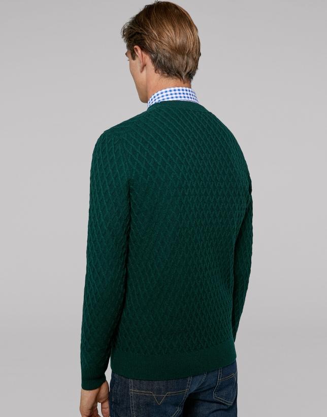 Pull en laine vert