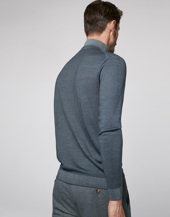 Jersey cuello cisne gris