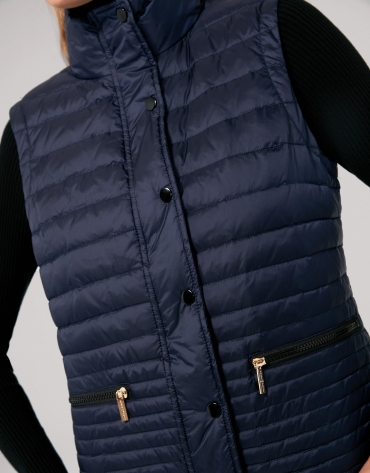 Sapphire blue quilted vest