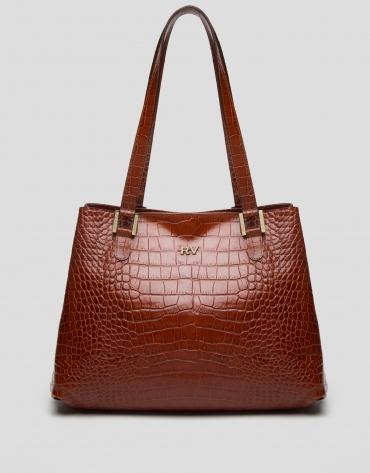 Brown leather Dundee hobo bag