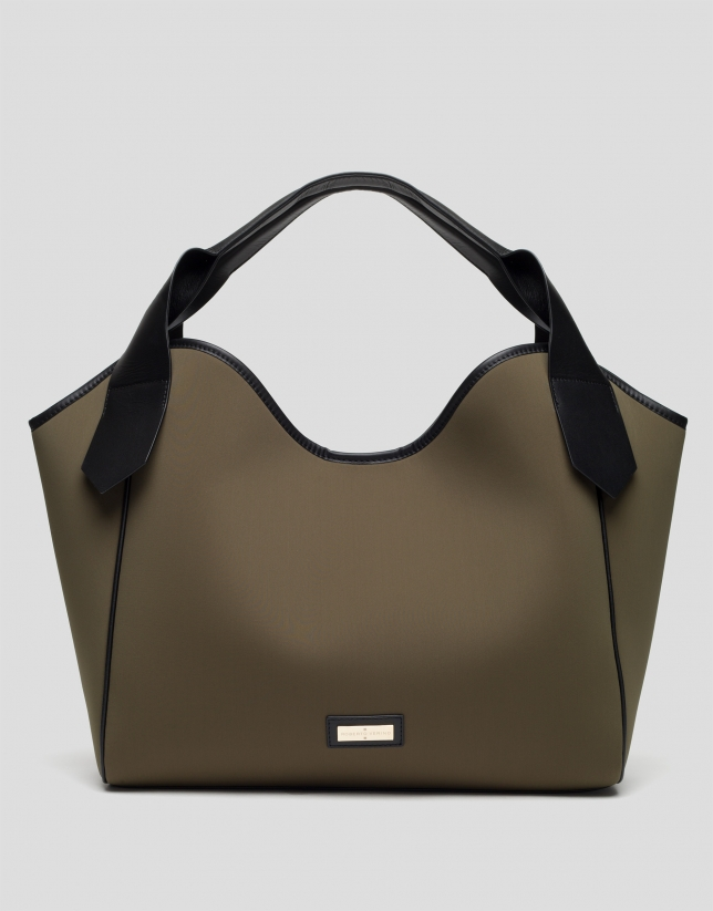 Green neoprene Neox Hobo bag