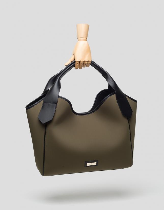 Green neoprene Neox Hobo bag