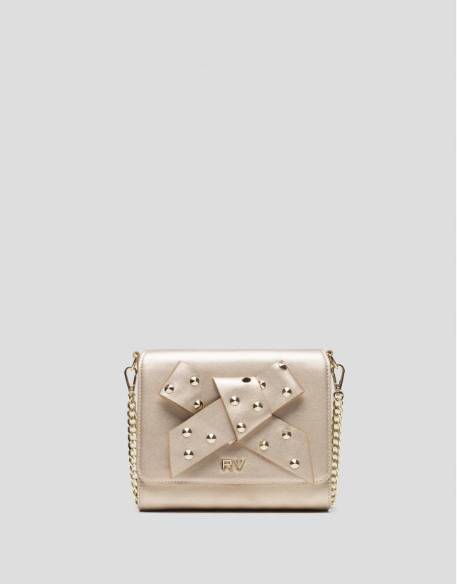 Golden leather Moma Warhol bag