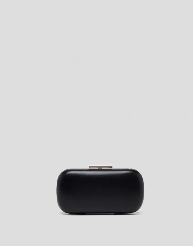 Black round RV clutch bag