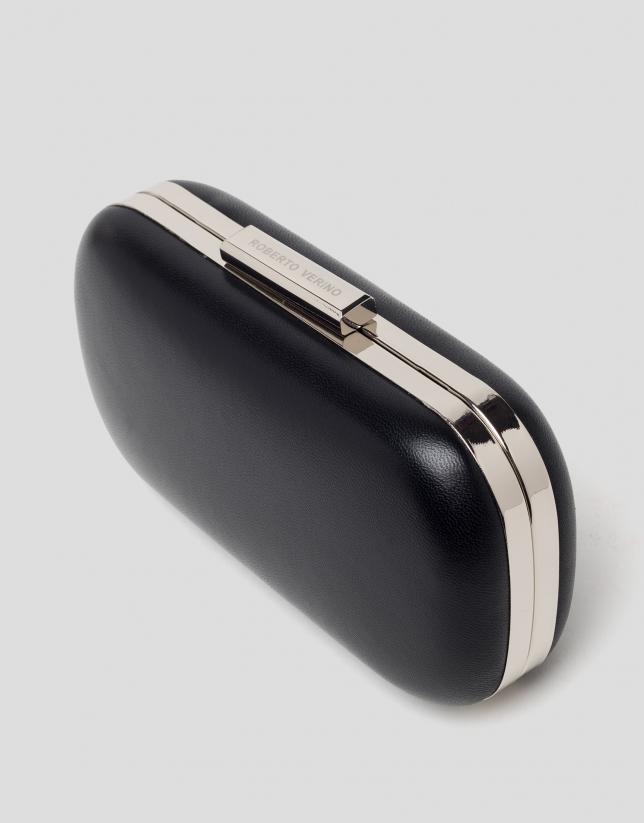 Black round RV clutch bag