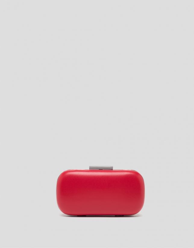 Red round RV clutch bag