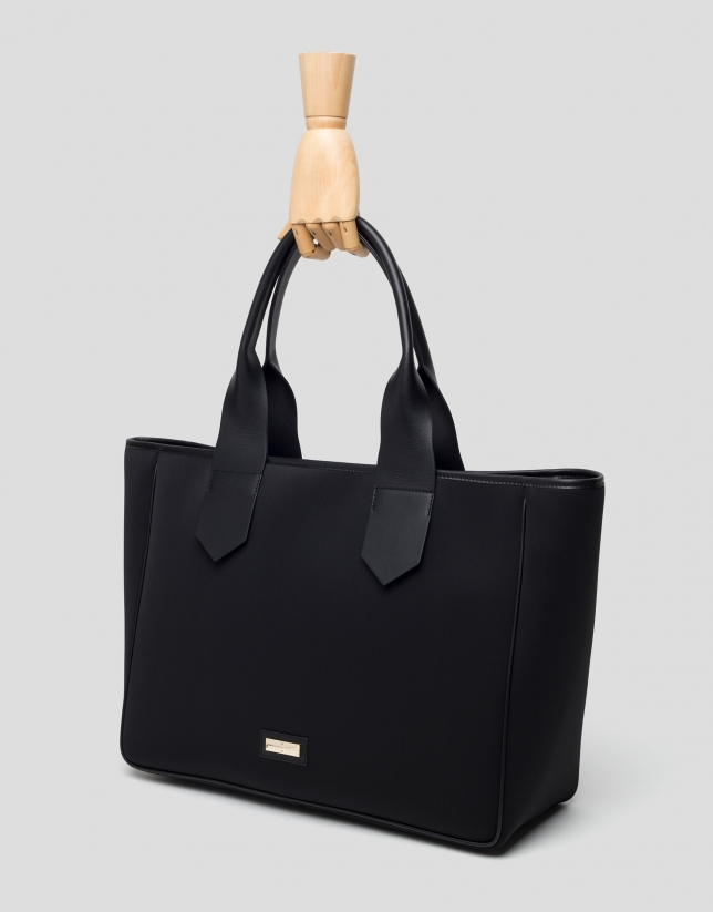 Black maxi neoprene Neox Hobo bag
