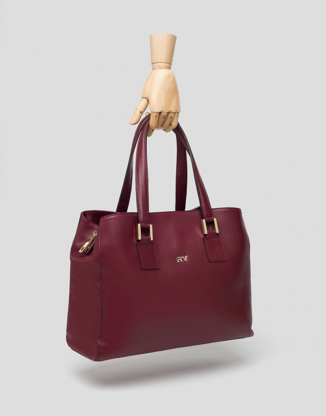 Burgundy leather Classic satchel bag