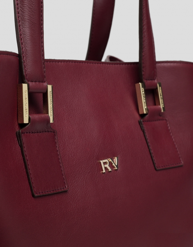 Burgundy leather Classic satchel bag