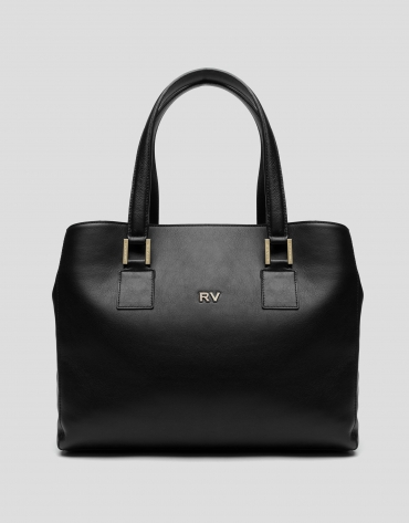Black leather Classic satchel bag