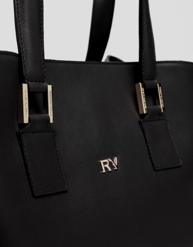 Bolso satchel Classic piel negra