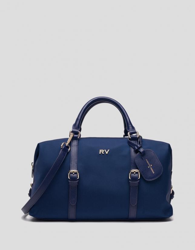 Blue Bora-Bora nylon bowling bag
