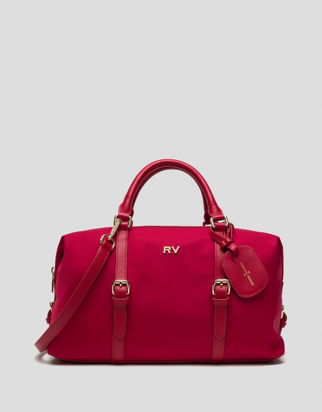 Red Bora-Bora nylon bowling bag