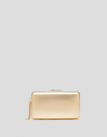Gold RV clutch bag