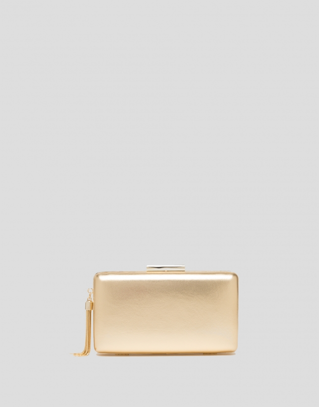 Gold RV clutch bag