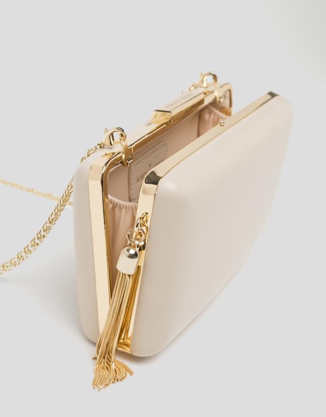 Natural RV clutch bag