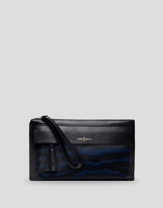 Blue Wild clutch bag