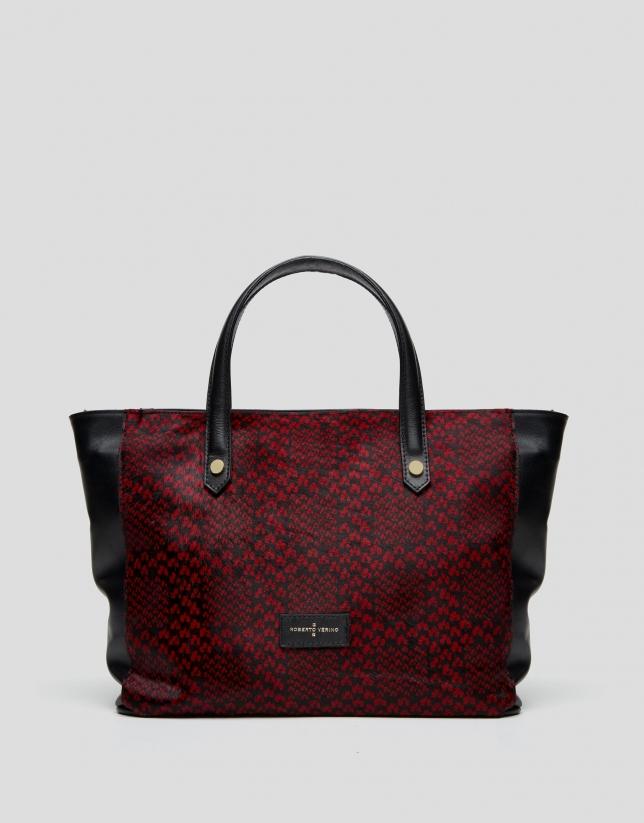 Burgundy Wild shopping bag