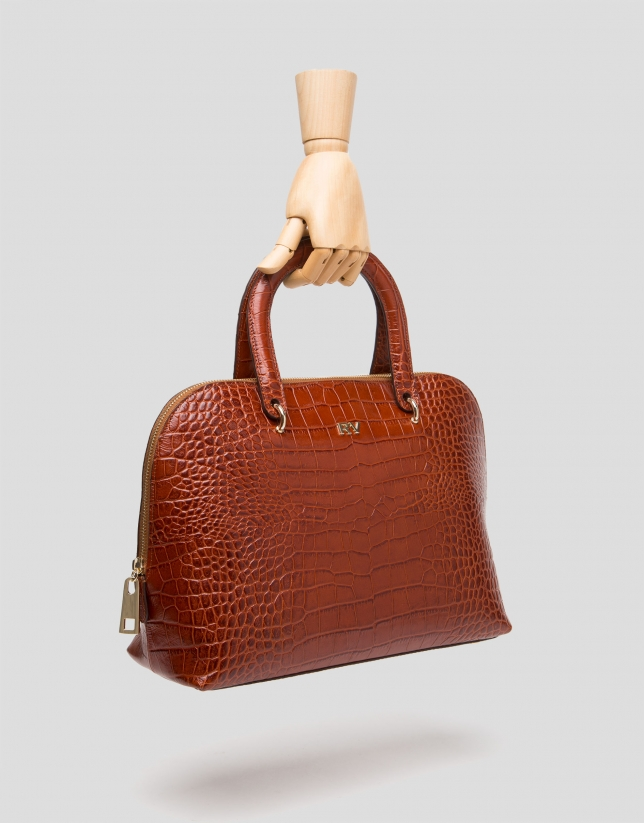 Brown leather Dundee lady bag