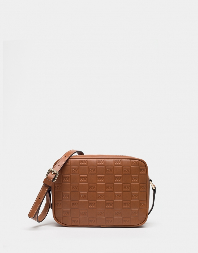 Cognac leather Taylor bag with RV logo