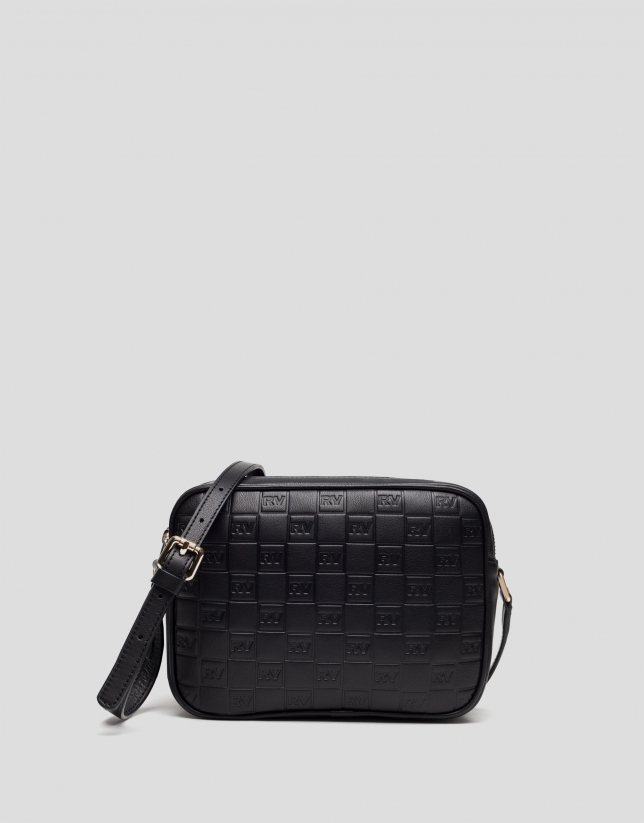 Black leather Taylor bag with RV logo