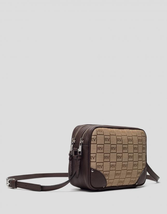 Brown canvas Taylor shoulder bag