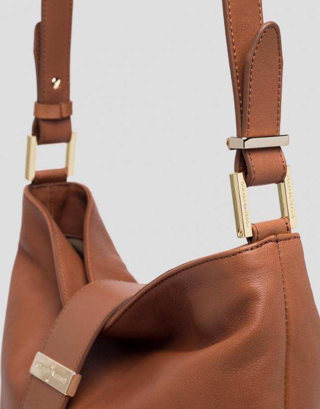 Bolso Victoria Cross piel marrón