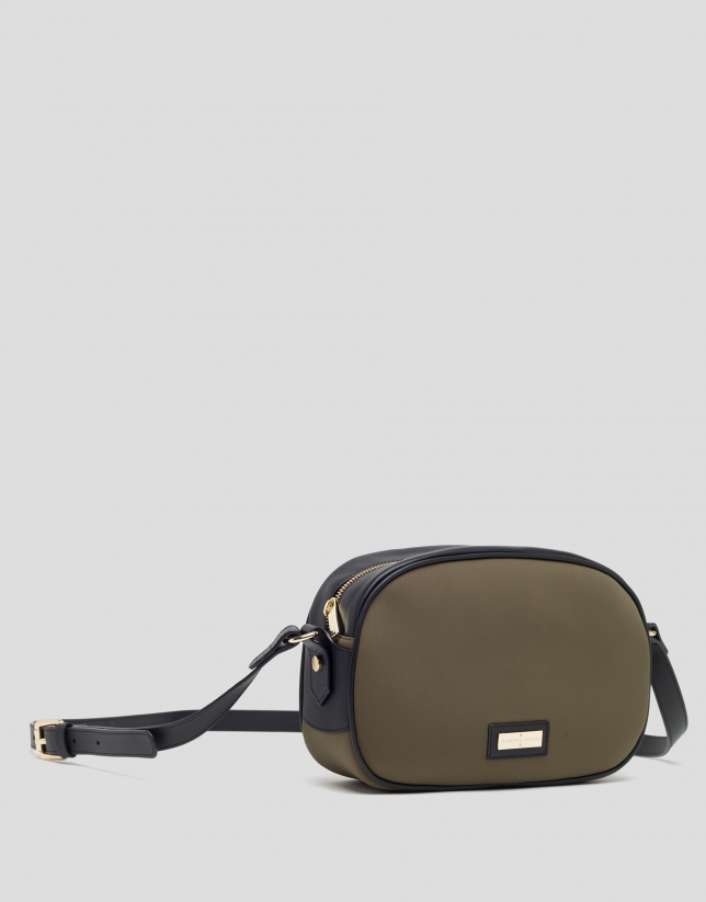 Green neoprene Neox shoulder bag